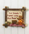 Live Simply Wall Tile