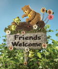 Friends Welcome Garden Stake