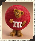 M&M's Red Peeker - Click for Licensed Bearstones