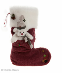 Berry Red Christmas Stocking